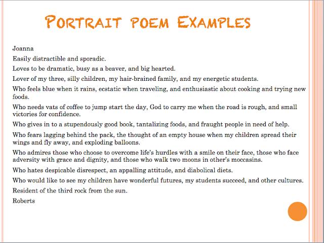 flip side 2 reality  portrait poem writing  voice