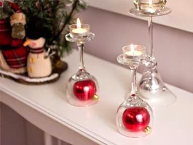 Dicas de decoração de Natal diferente com velas e bolas
