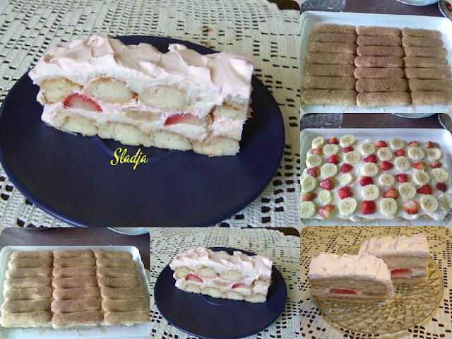 LETNJA OSVEŽAVAJUĆA TORTA SA VOĆEM