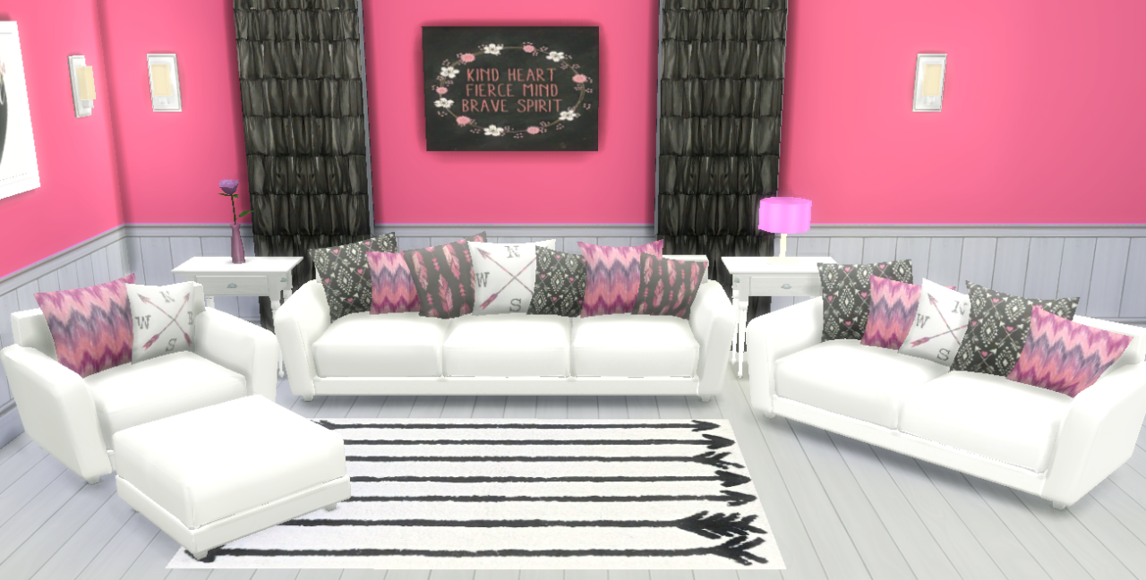 My sims 4 blog arrows hydrogen set recolors by for Sofa bed sims 4