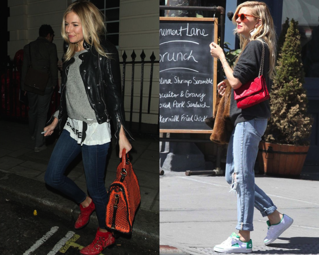Sienna Miller's seriously dressed-down style