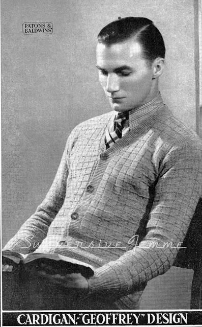 The Vintage Pattern Files 1930s Knitting Mens Diamond Pattern