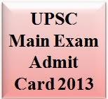 UPSC Admit Card 2013