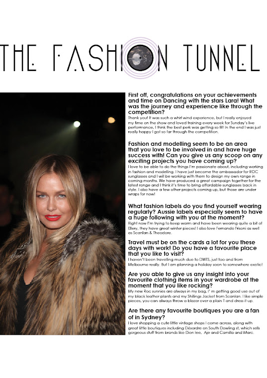 The Fashion Tunnel Interviewed Lara Bingle