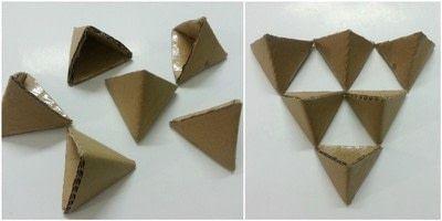 3d origami triangle paper origami guide. Black Bedroom Furniture Sets. Home Design Ideas