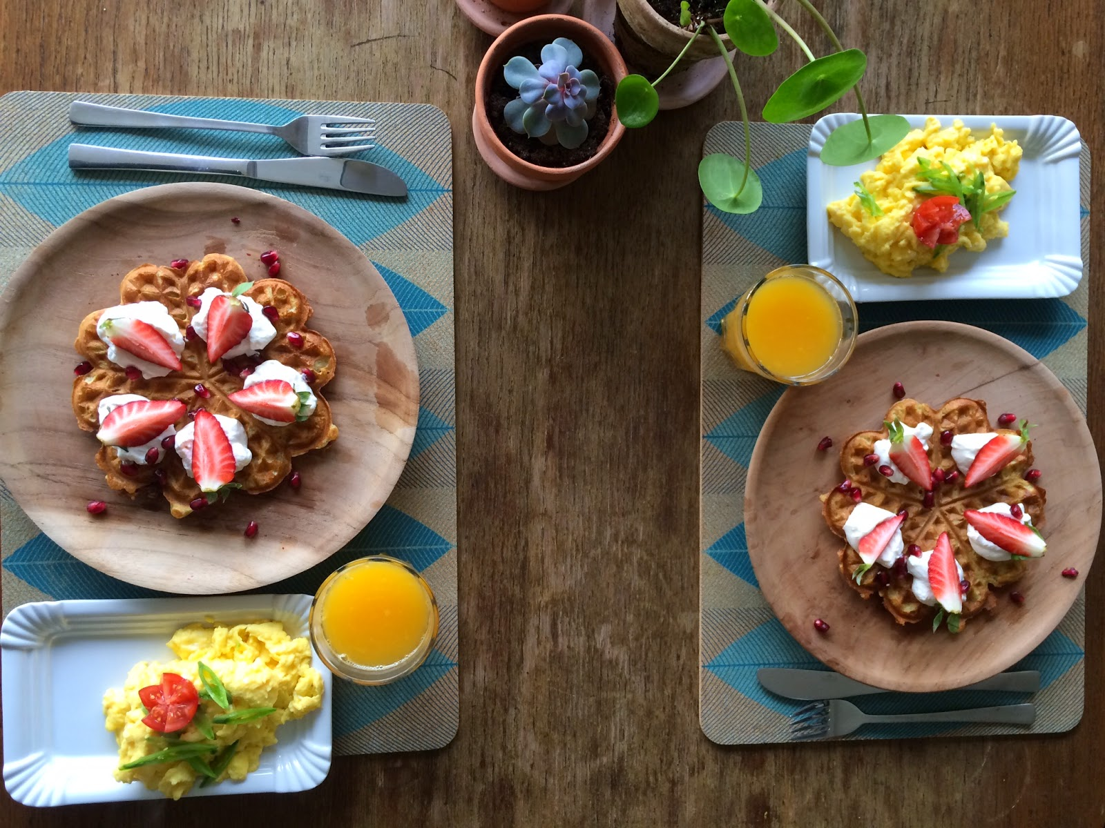 julie makes - morgenmad på valentines day // kærlighedsvafler