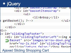 Ajaxed Sliding Shopping Cart With jQuery