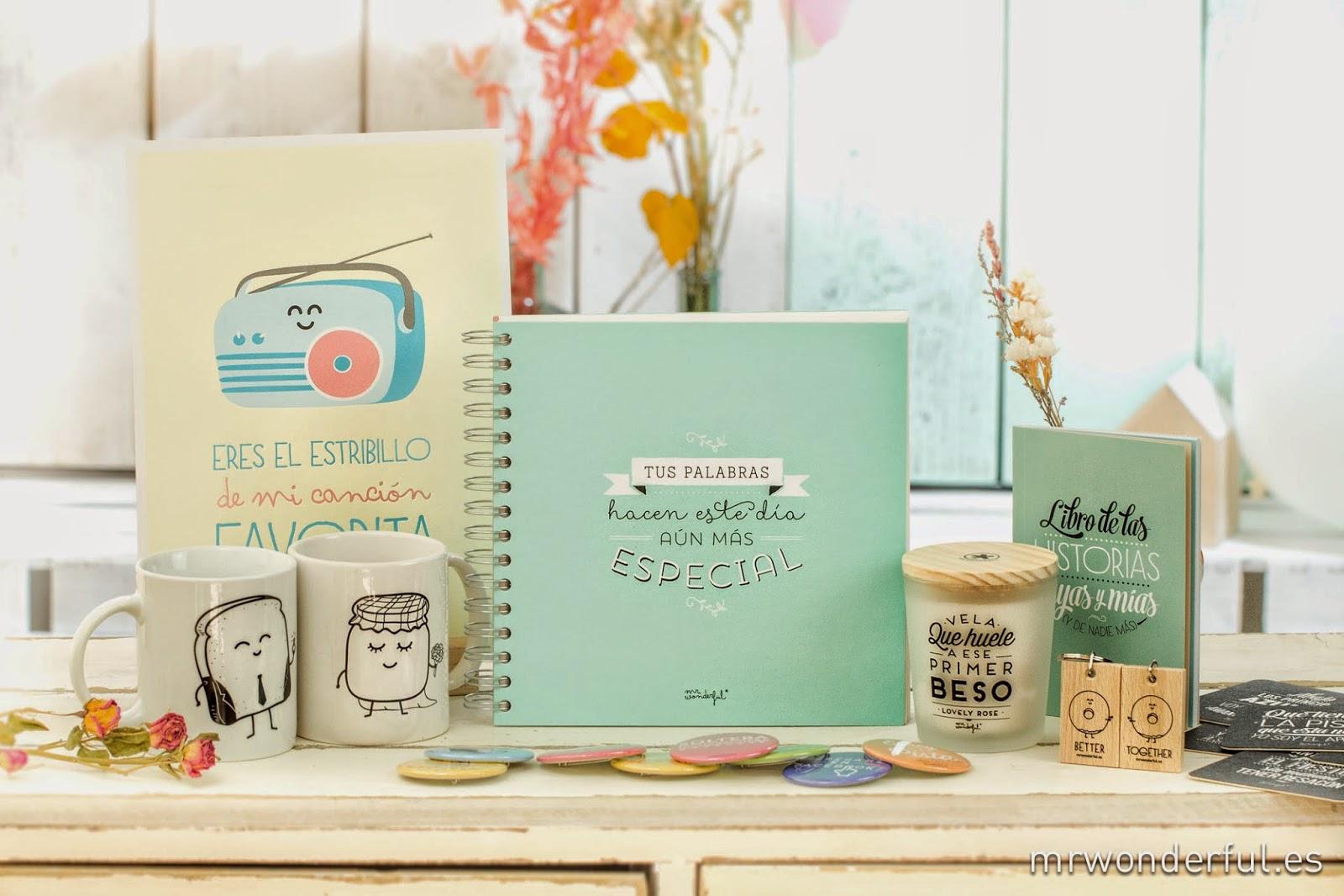 QUIERO UNA BODA PERFECTA: ¡SORTEO: Un Pack Repleto De Cositas De Mr  Wonderful! - Weddbook