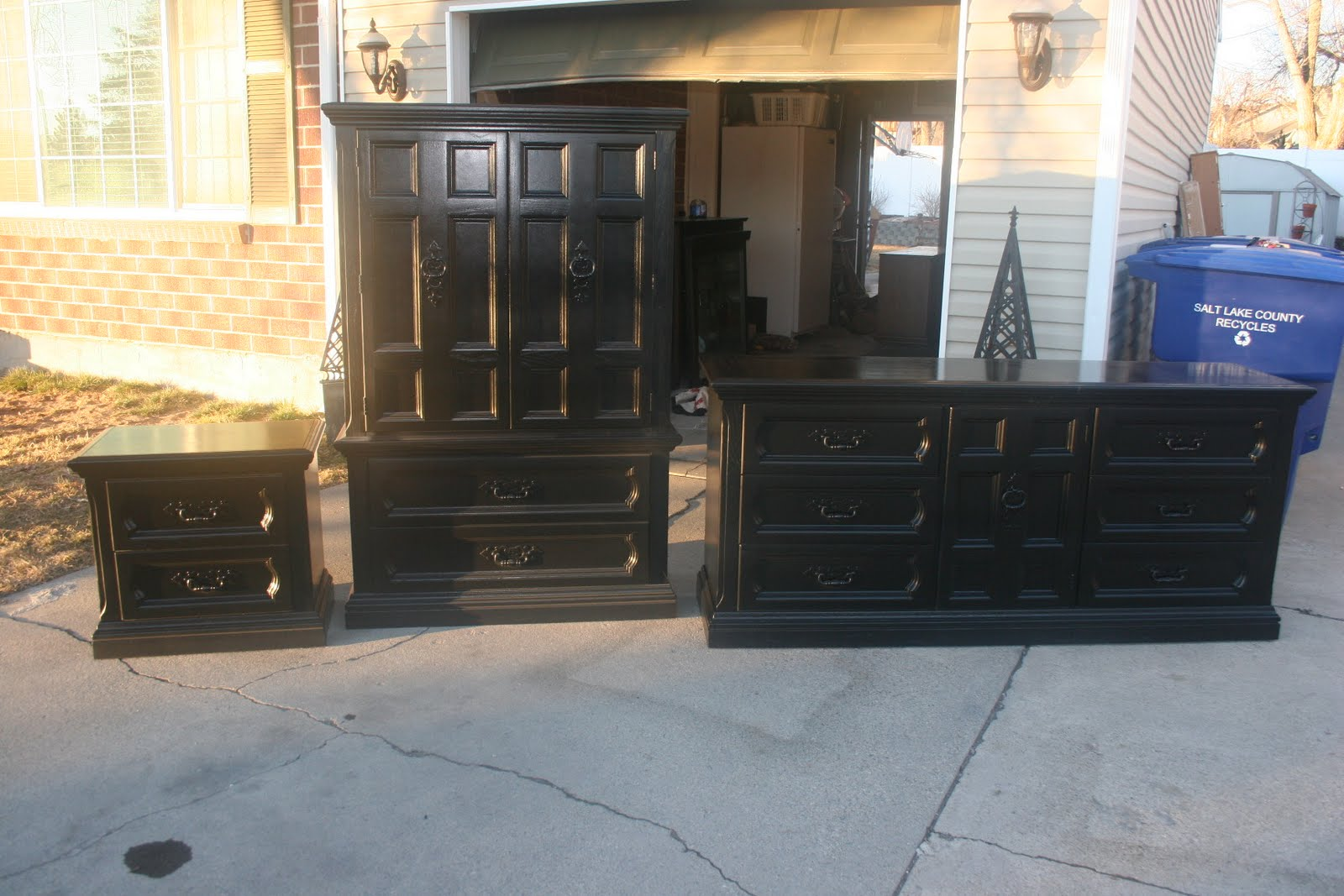 shabby 2 chic design new black bedroom sets and pink glazed bed for sale