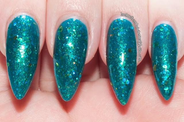Rainbow Honey nail polish The Kraken bottle swatch Femme Fatale Cosmetics