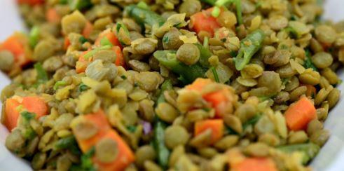 Salada para Reveillon: Salada de lentilha simples