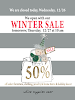 OUR WINTER SALE IS ON