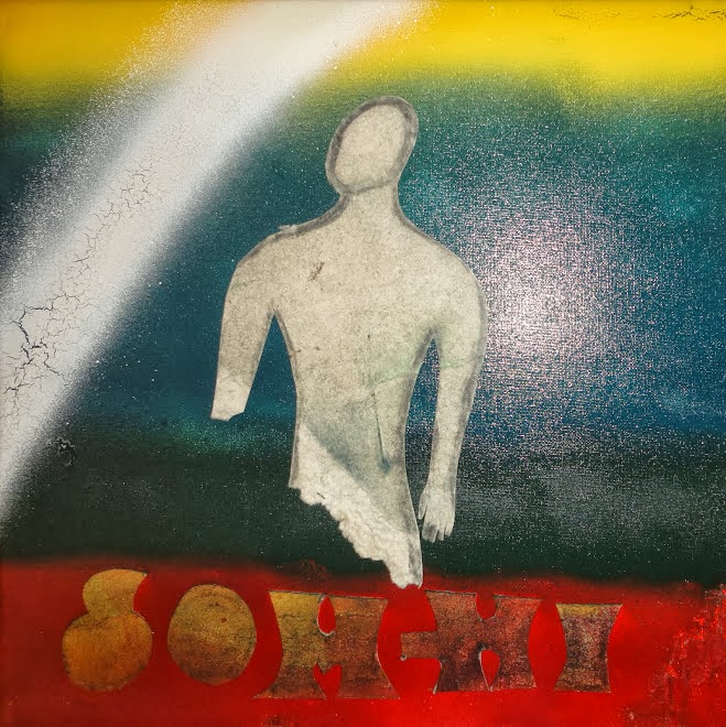 """Som-hi"" mixed media, 30x30cm, 10/11/2011"