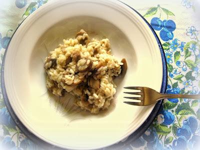 risotto salsiccia e funghi