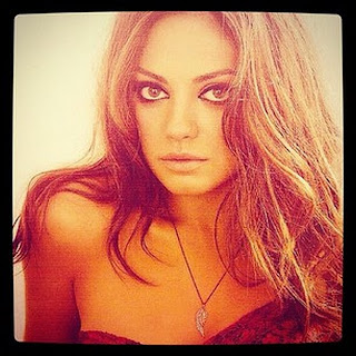 Mila Kunis hot self shot Instagram sepia tone HD HQ photo