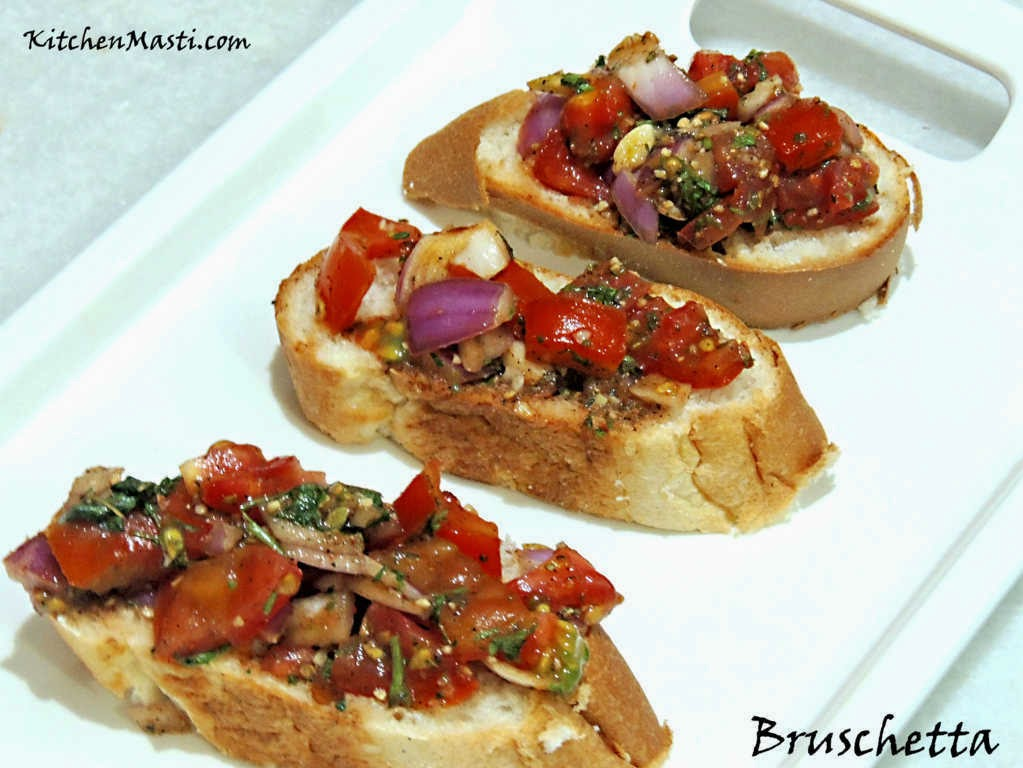 how to make bruschetta bread