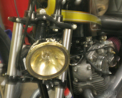 old ford headlight on xs650 chopper