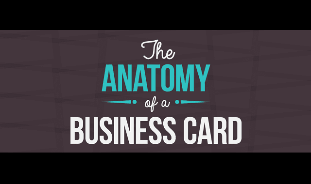 The Anatomy Of A Business Card