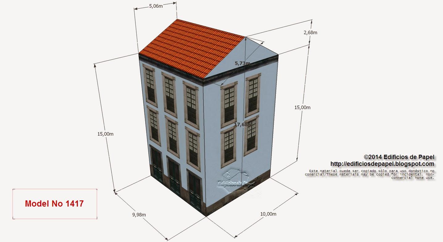 """Edificios de Papel - Modelo 1417 - Casona Urbana Gallega 4. Serie """"Ourense"""" - """"Ourense"""" series"""
