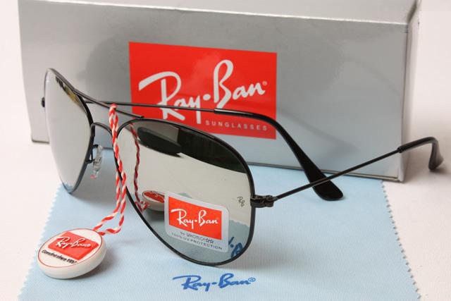 37338254e1 ... buy ray ban aviator black frames silver mirror lens 17fd1 0e218