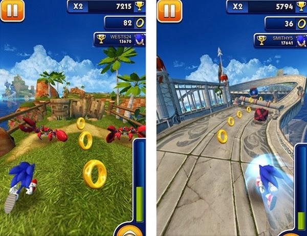 تحميل لعبة سونيك داش Sonic Dash على اندرويد مجاناً