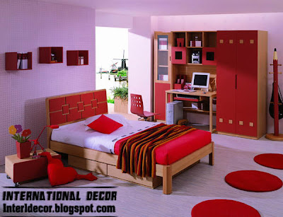 red bedroom furniture, red bedroom interior design
