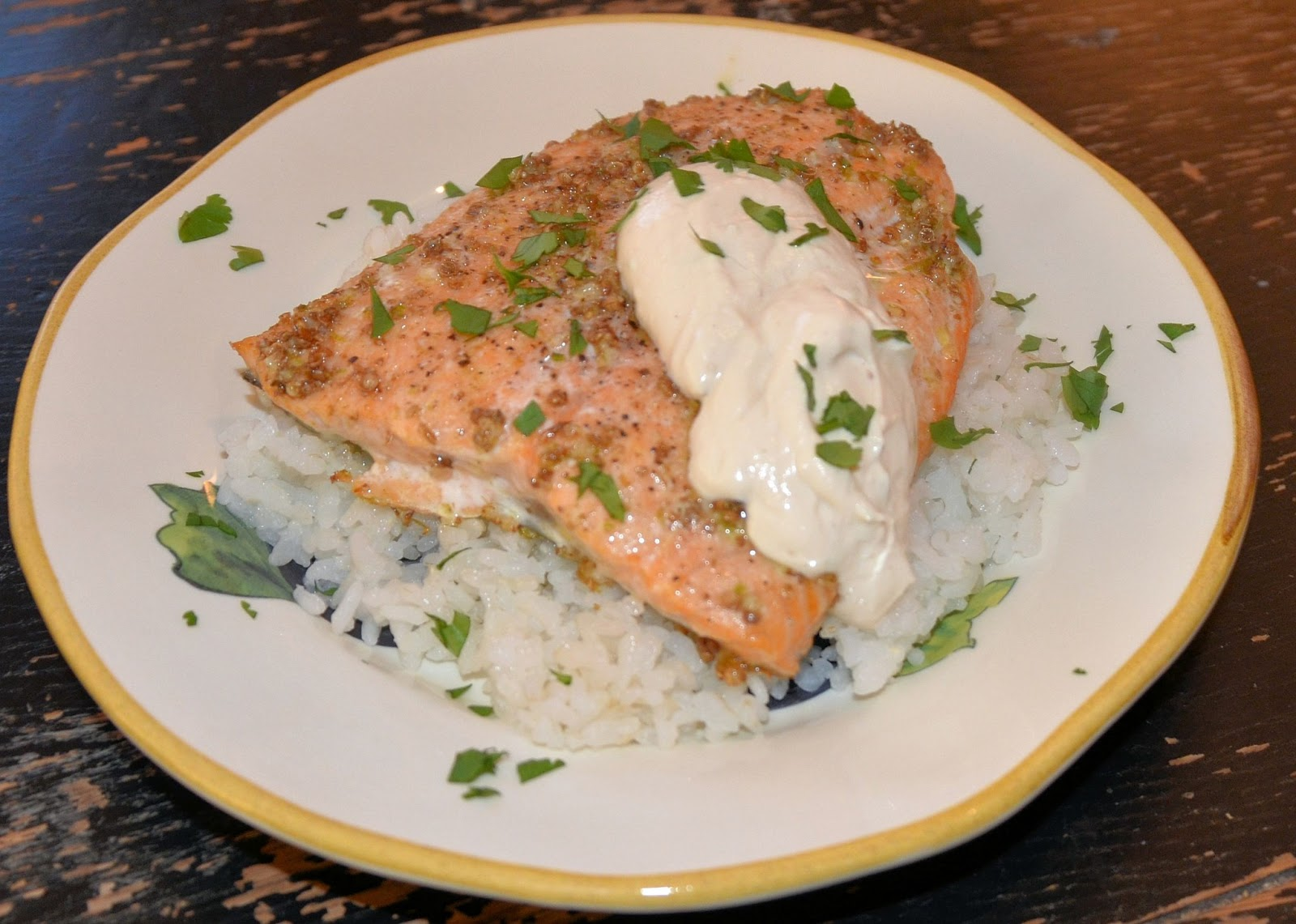 ... - May Way, Every Day!: Salmon with Coriander Rub and Lime Cream