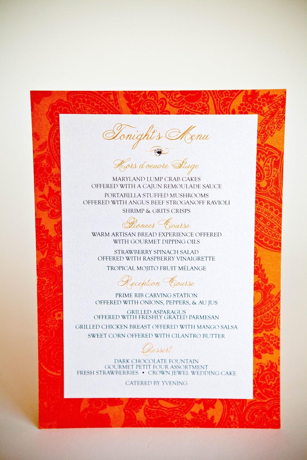 Menu Cards Wedding Baltimore Invitations Kindly RSVP Designs Blog