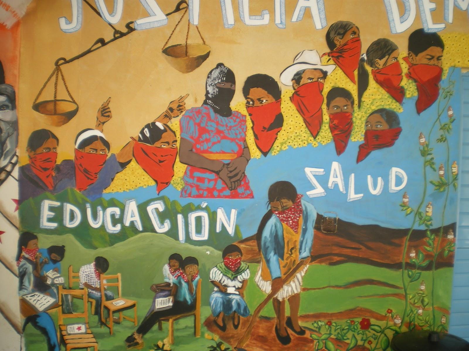 Camina tus pensamientos agosto 2012 for Mural zapatista