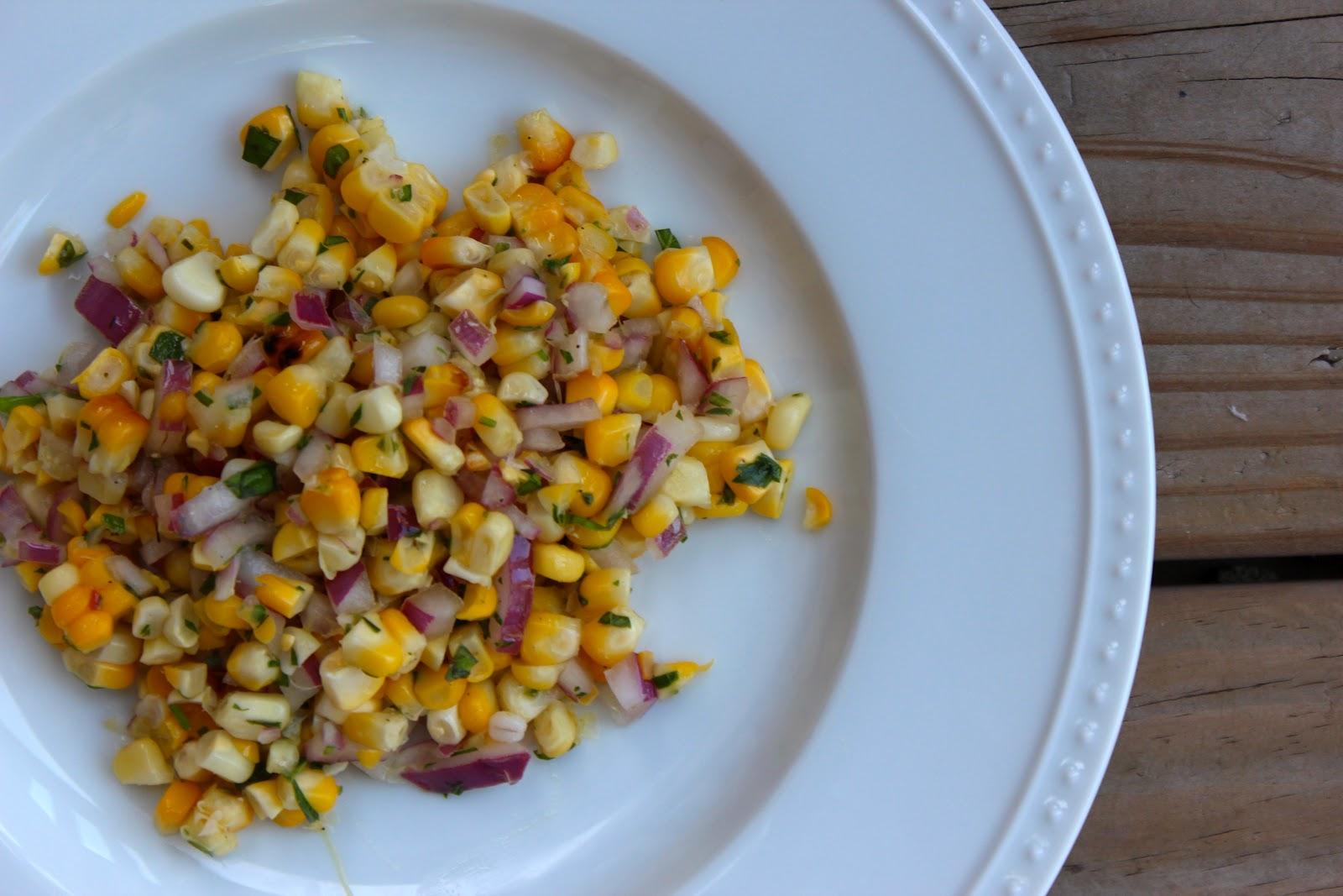 Carey On Lovely: Summer Herb Corn Salad