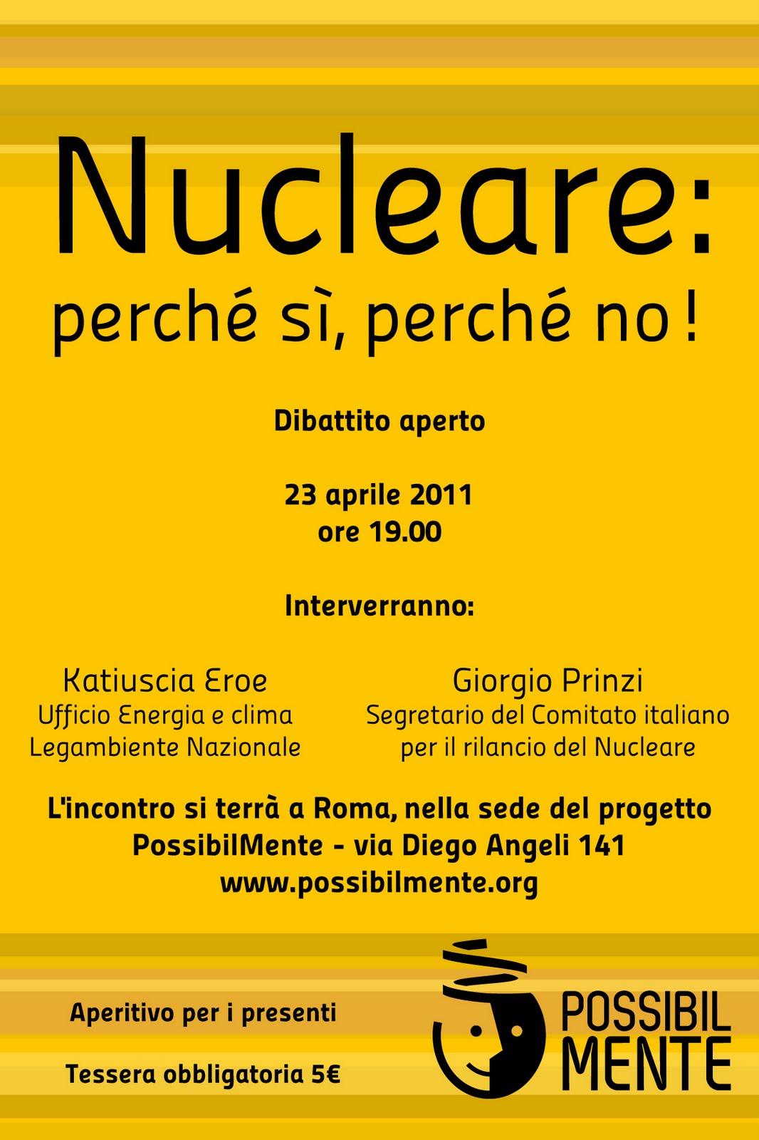 Nucleare: perchè sì, perchè no
