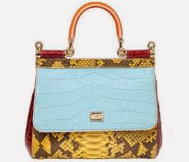 Dolce & Gabbana para Luisa Via Roma bolsa couro cobra e crocodilo