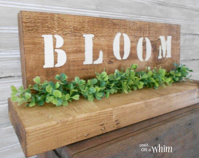 Spring Boxwood Table Decoration Made with Scrap Wood from Denise on a Whim