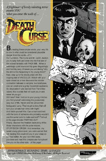 Back cover of DeathCurse #1 from Lost Story Studio