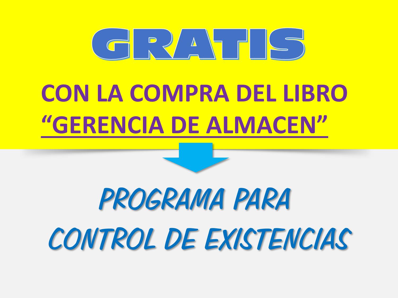 GRATIS -  PROGRAMA CONTROL DE EXISTENCIAS - GRATIS