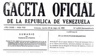 Gaceta Oficial de Venezuela Traductor