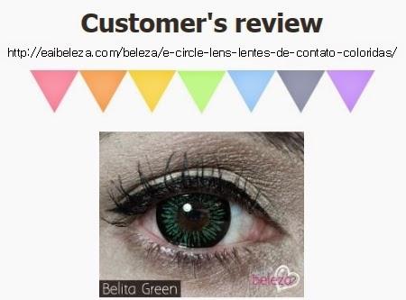 Belita Green Contacts at e-circlelens.com