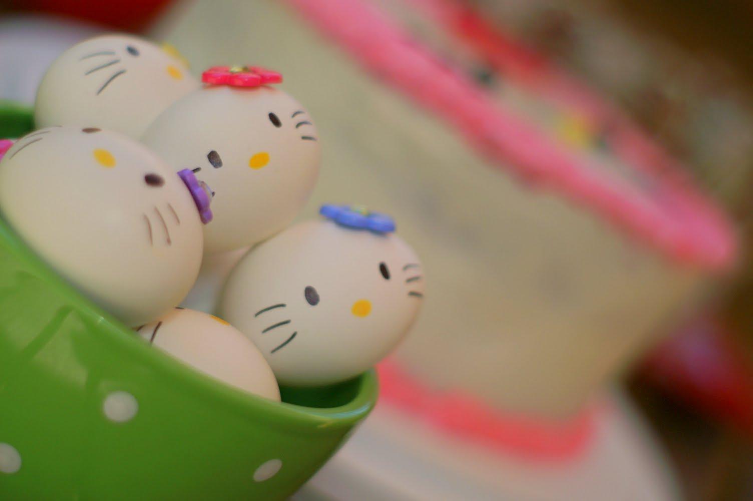 Boiled Egg Face Hello Kitty Hard Boiled Eggs