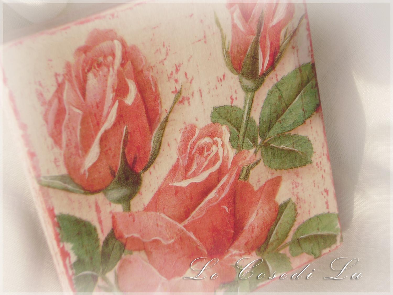 Le cose di lu quadri in decoupage for Quadri con rose rosse