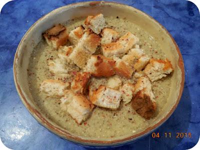 supa crema de ciuperci si praz