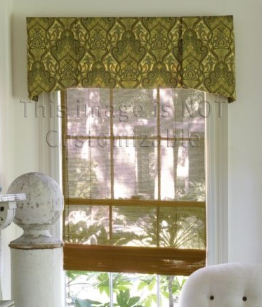 Dining room valance ideas home decoration club for Custom window designs