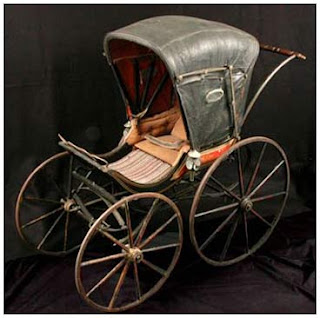Baby carriage used by the McFetridge family of Beaver Dam, Wisconsin, 1871
