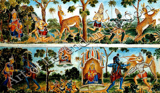 Rama pursues the magical golden deer