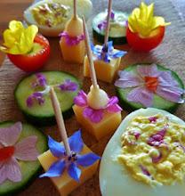 bloemen op je bord