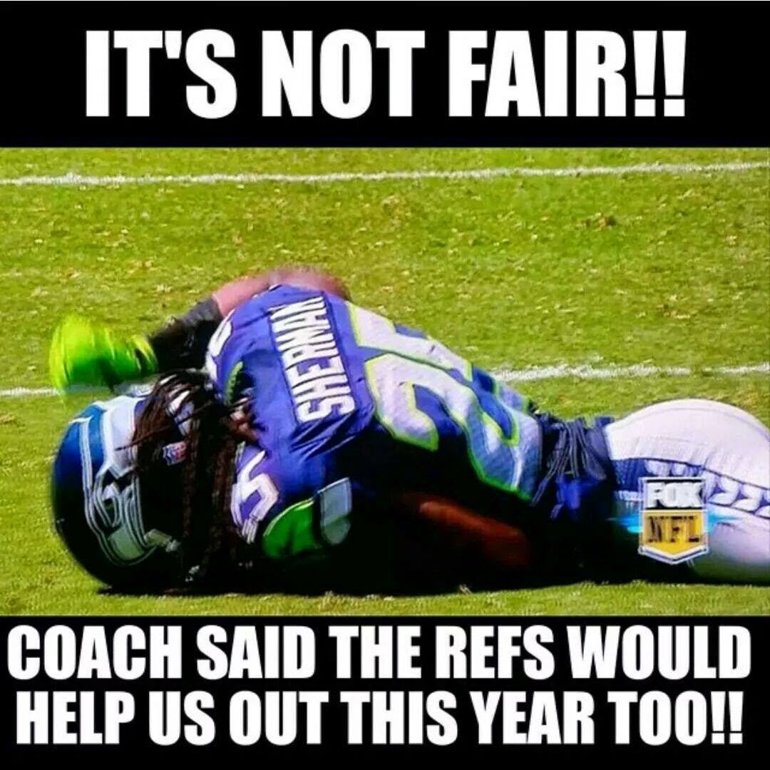 it's not fair!! coach said the refs would help us out this year too!!