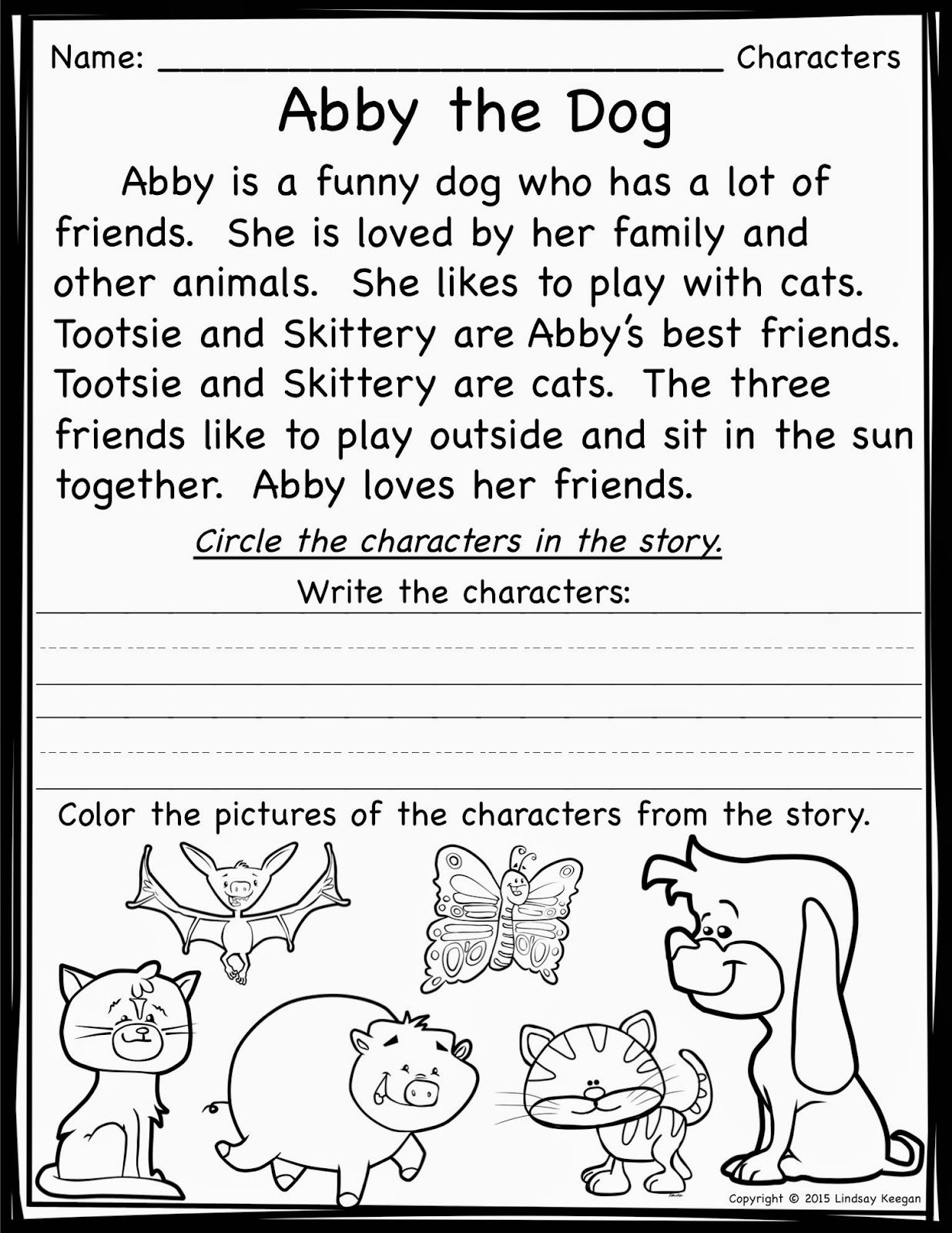 Worksheets Identifying Story Elements Worksheet worksheet kindergarten short stories wosenly free keeping it cool at school teaching story elements and a princess through