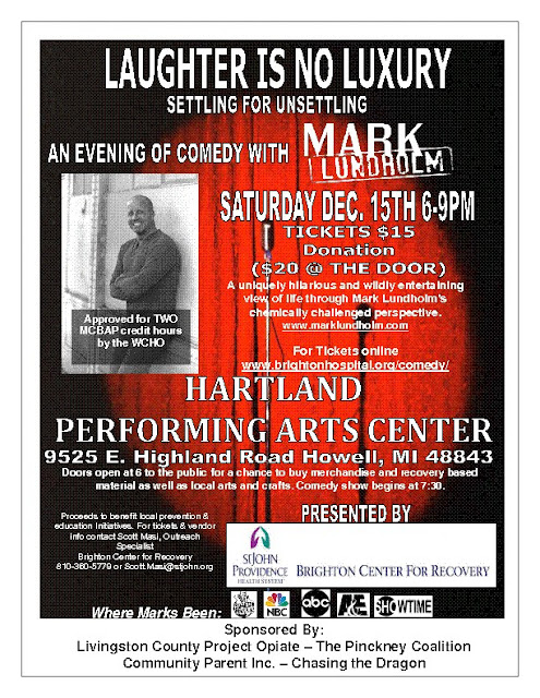 Mark Lundholm - Comic - Hartland Performing Arts Center - 12-15-12