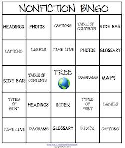 photo of Nonfiction Bingo, Bingo cards, PDF, Ruth S. TeachersPayTeachers.com