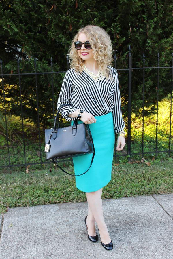 fashion blog for young professionals, J. Crew teal pencil skirt, Lawyer Lookbook