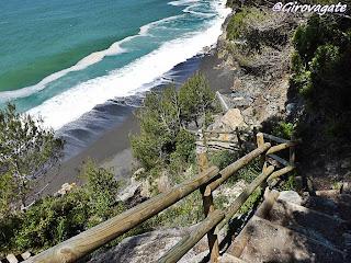 punta corvo spiaggia sentiero